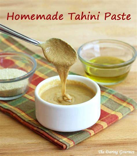 easy homemade tahini paste the daring gourmet