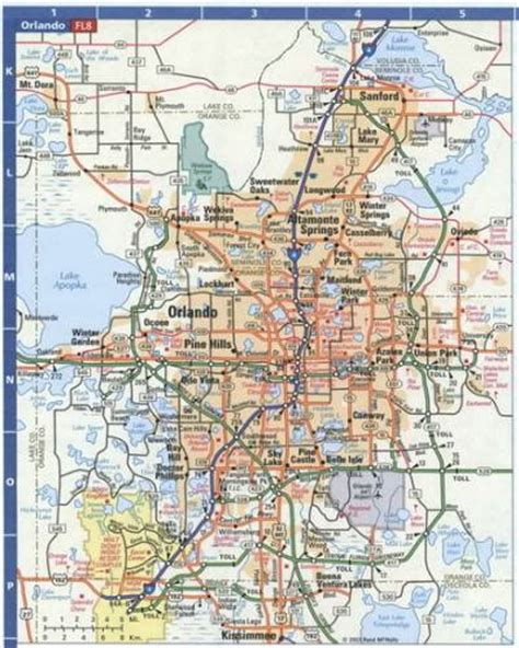 printable orlando area map free map of on the road holidaymapq com