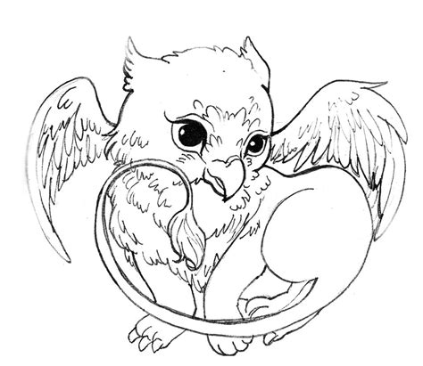 Cute Griffin By Acorna252525 On Deviantart Griffin Coloring Pages
