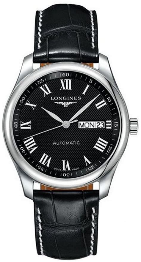 Swiss Army 2250 Black Leather Original longines l2 755 4 51 7 master automatic s