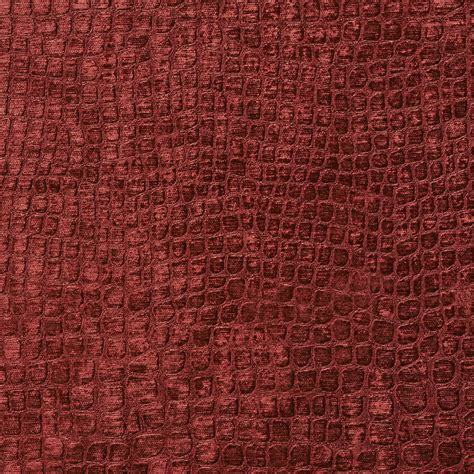 Velvet Upholstery Fabric by A0151t Burgundy Textured Alligator Woven Velvet Upholstery