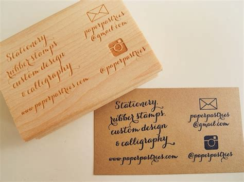 rubber st business cards paper pastries shop update new business card rubber st