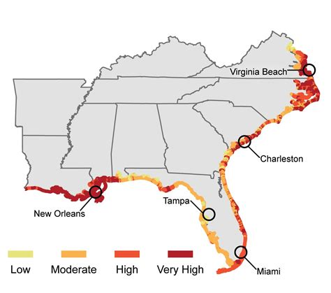 how fast is florida sinking southeast national climate assessment