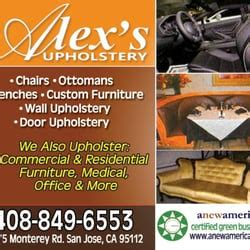 san jose upholstery alex s upholstery furniture reupholstery 1775 monterey