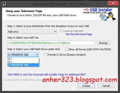 membuat bootable usb linux cara membuat bootable kali linux dengan usb flashdisk