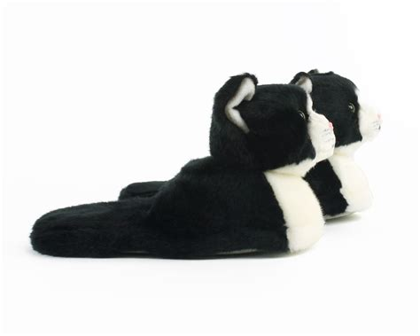 toddler cat slippers black and white slippers cat slippers