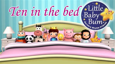 10 in the bed ten in the bed nursery rhymes from littlebabybum