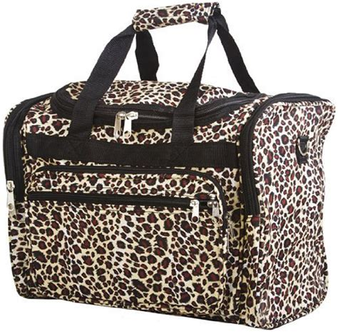 16 quot women s leopard animal print duffle bag carry on