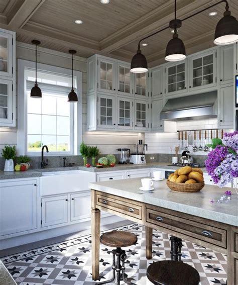 provence kitchen design comfortable family home design cottage decor in neutral