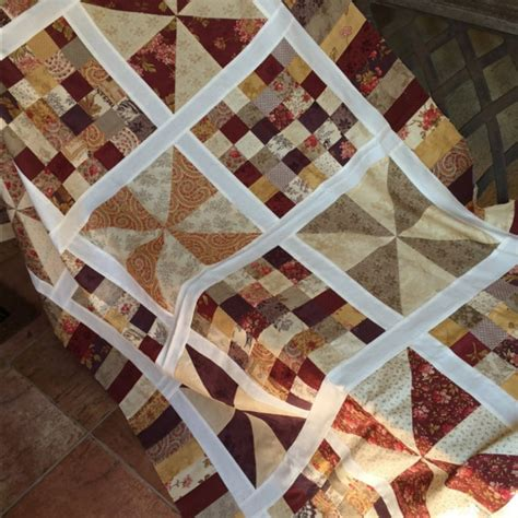 Pinwheel Patchwork - scrappy pinwheels patchwork quiltsby me