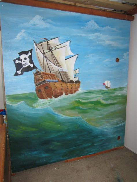 pirate bunk bed pirate bunk bed mural by fallthrustardust on deviantart