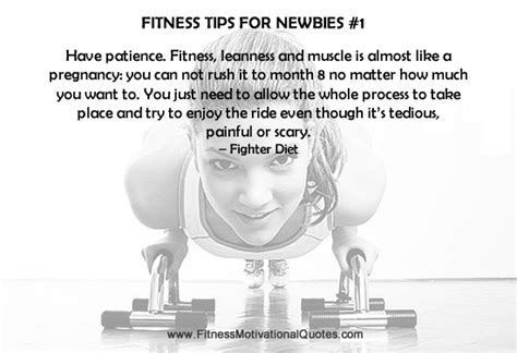 fitness tip  newbies