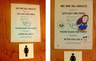 Pink Bathrooms Decor Ideas Humorous Bathroom Etiquette Signs Bathroom Design 2017
