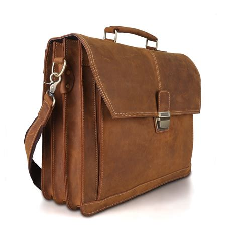 Handmade Leather Briefcase For - handmade vintage leather briefcase messenger bag