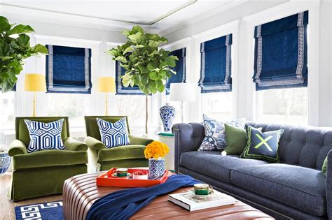 blue and green living rooms blue and green living room with chesterfield sofa