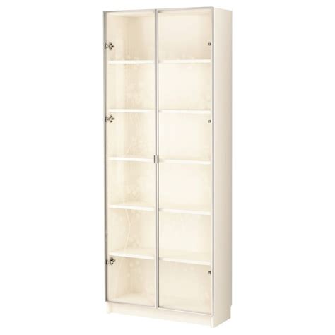 ikea display case billy billy valbo bookcase with glass doors white ikea