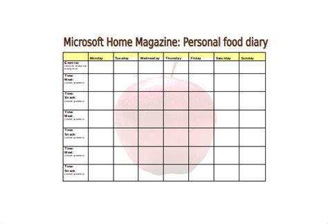 free printable food diary uk food log template 30 free word excel pdf documents