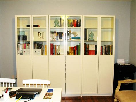 Small Bookcases With Glass Doors Ikea Billy Bookcase Doors Home Amp Decor Ikea Best Billy