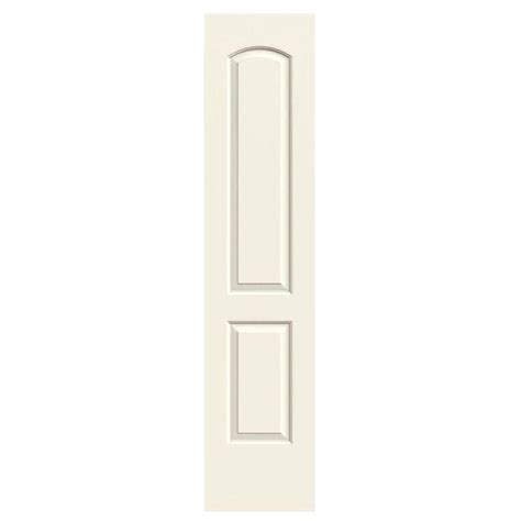 jeld wen smooth 2 panel arch painted molded single prehung jeld wen 18 in x 80 in molded smooth 2 panel arch french