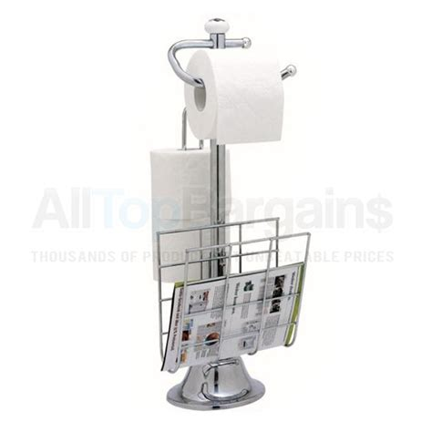 toilet magazine rack standing chrome magazine rack toilet paper tissue holder stand bathroom organize ebay