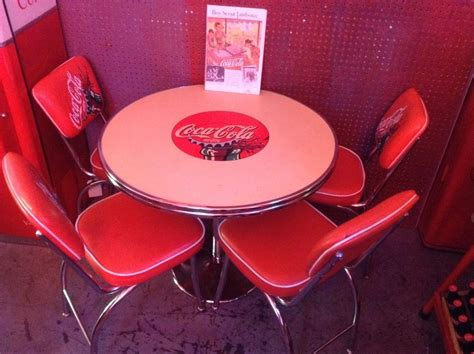 Coca Cola Table And Chairs by Original Coke Coca Cola Diner Table Chair Set Ebay
