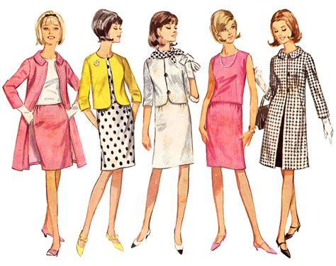 sale vintage dress pattern vintage coat pattern 60s