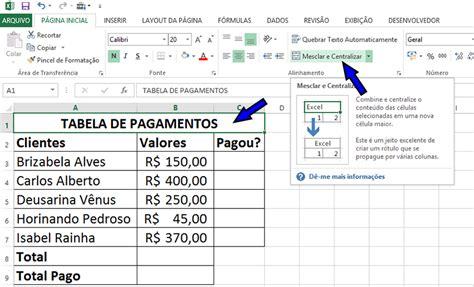tabela de pagamentos 2016 belem para usando listas e a f 243 rmula somase para criar uma tabela de