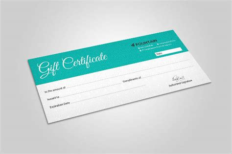 gift certificate templates for photoshop sle gift certificate template 56 documents download