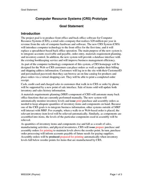 personal goals statement examples sample of personal goal statement for graduate school 6