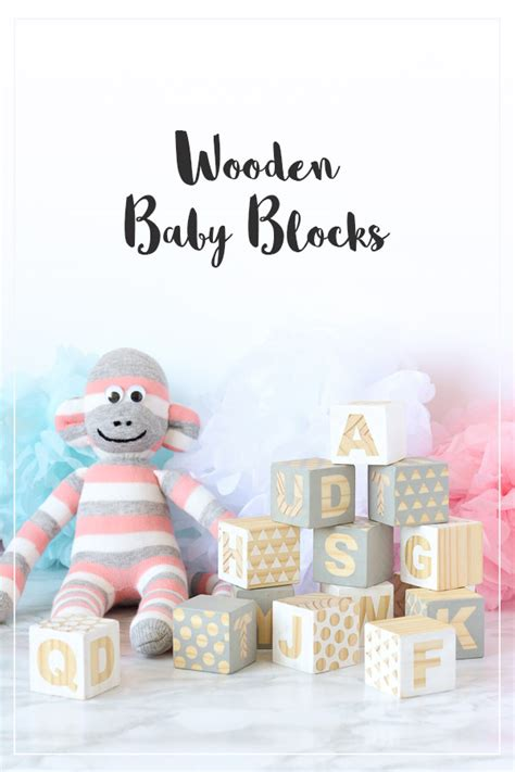 Baby Shower Crafts For Guests by Wooden Baby Blocks Babyshower Craft Diy Sweet