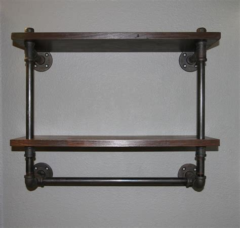 steel pipe shelf and towel rack basement