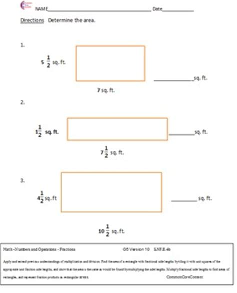 Common Standards Math 5th Grade Worksheets by 5 Nf Fractions All Standard By Nick Knacks For The