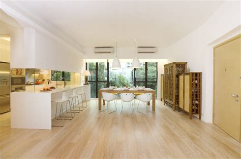White Living Room Wood Floors White Washed Wood Floors Kitchen Contemporary With