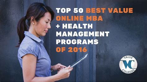 Best Valued Mba by Top 50 Best Value Mba Health Management Programs