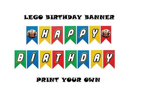 printable lego birthday banner 8 best images of printable lego happy birthday sign free