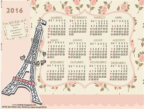 Calendario Colo Arte Em Pano Sal Rosa Chitarte Calend 193 2016 Para