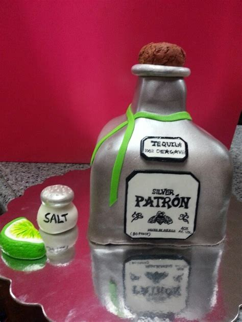 birthday tequila tequila bottle cake made with rice krispies cakes