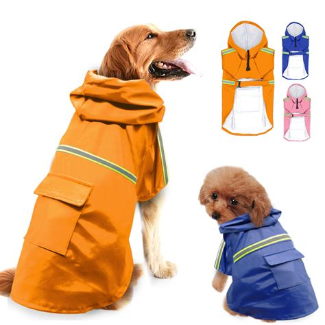 jacket for dogs raincoat for dogs waterproof coat jacket reflective raincoat clothes for small