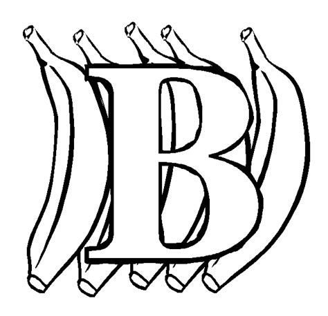 Letter B Coloring Pages For Toddlers Www Mindsandvines Com B For Coloring Page
