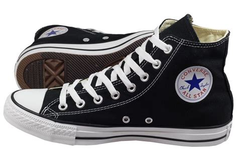converse mens shoes all high black and white canvas