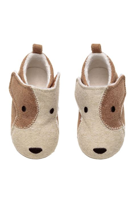 h m baby shoes soft slippers light beige sale h m us