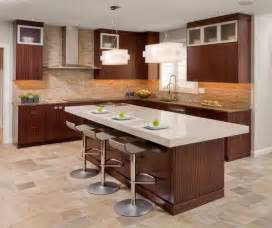 bar island contemporary kitchen design with functional brown kitchen