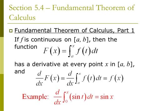 calculus ab section 1 part a fundamental theorem of calculus ppt download