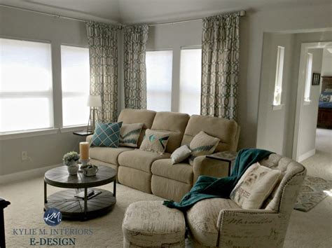 grey and beige living room colour review sherwin williams repose gray sw 7015