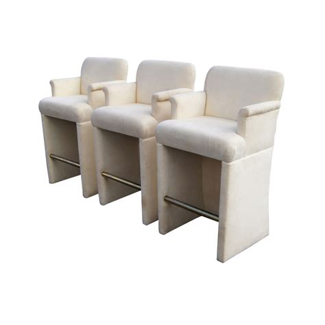 Padded Bar Stools With Arms 3 Upholstered Bar Stools With Arms Ebay