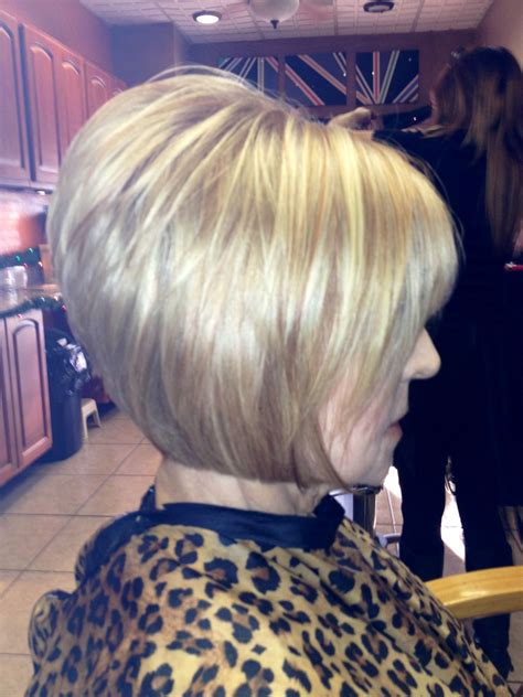 low stack bobs inverted blond bob with strawberry blond low lights my