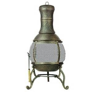 Home Bargains Chiminea Wood Burning Fireplace Outdoor Pit Patio Deck