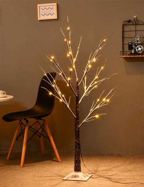 lighted tree home decor 83 off bolylight natural snow tree 4ft 48l led decorations lighted tree for bedroom party