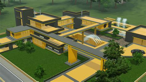 house design ideas jamaica sims 3 futuristic grey and yellow villa by ramborocky on