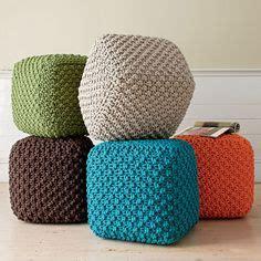 Knitted Ottoman Spotlight 1000 Images About Crochet Poufs On Crochet